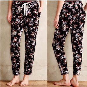 Puella • Anthro Pajama Pants Black Floral XS